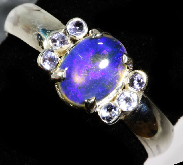 9 SIZE  SOLID OPAL AND 6 TANZANITES -FACTORY [SJ3411 ]