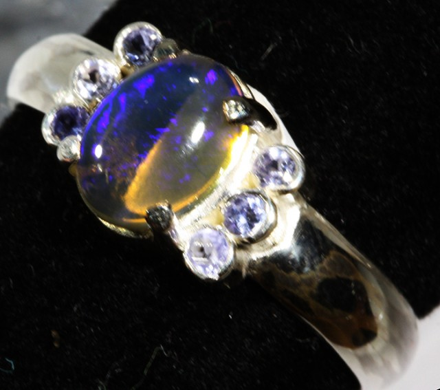 8 SIZE  SOLID OPAL AND 6 TANZANITES -FACTORY [SJ3139 ]