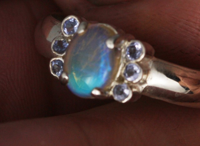 7 SIZE  SOLID OPAL AND 6 TANZANITES -FACTORY [SJ3189 ]