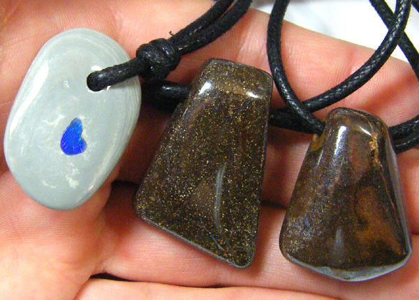 PARCEL THREE NATURAL  IRONSTONE PENDANTS     SG 870