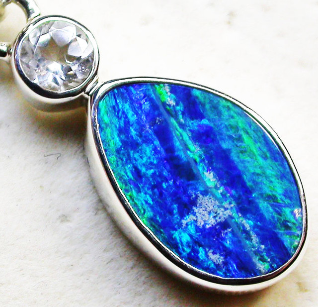 10.50 CTS DOUBLET OPAL AND TOPAZ -FACTORY DIRECT [SJ2342]