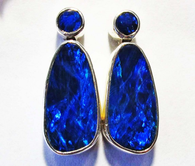DOUBLET OPAL EARRINGS-FACTORY DIRECT [SJ4270]