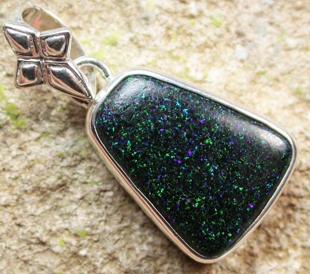 FAIRY OPAL SILVER PENDANT -FACTORY DIRECT 18.50 CTS [SJ1602]