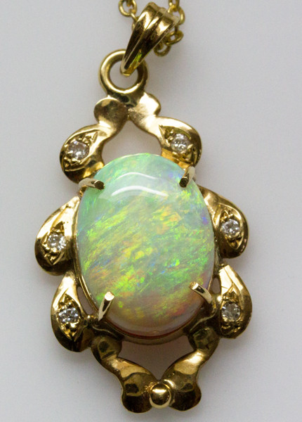 Solid Opal Pendant