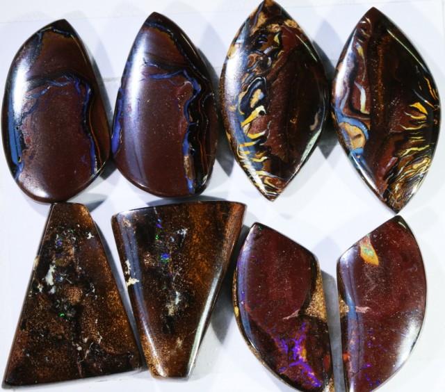 162.35 Cts  Parcel 4 pairs Yowah opal s  BU 2056