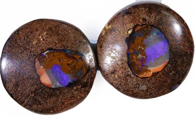 19.85 Cts   Pair Yowah opal s  BU 2092