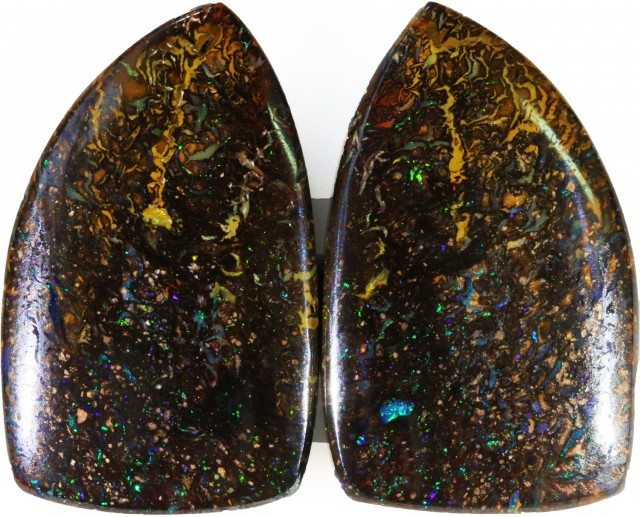 43.25 Cts   Pair Yowah opal s  BU 2120
