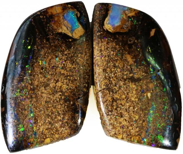 50.90 Cts   Pair Yowah opal s  BU 2114