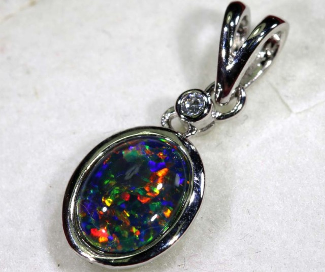 TRIPLET OPAL SILVER PENDANT 4.10 CTS OF-1448
