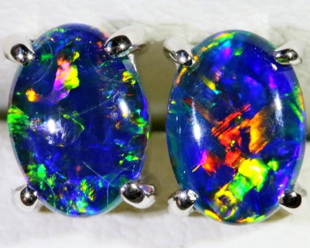 Gem Opal Triplet Earring SB 175