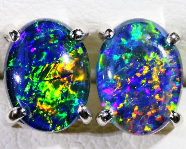 Gem Opal Triplet Earring SB 184