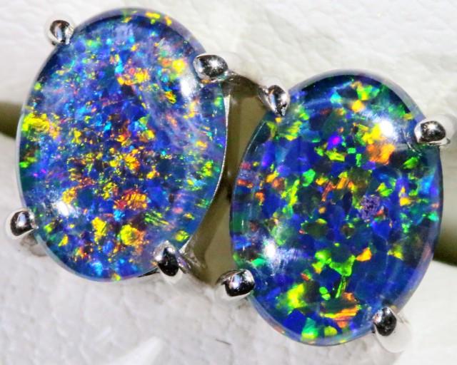 Gem Opal Triplet Earring SB 185