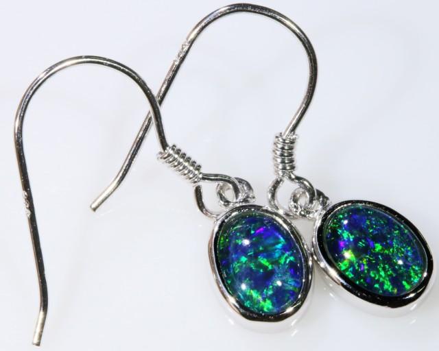 Gem Opal Triplet Earring SB 199
