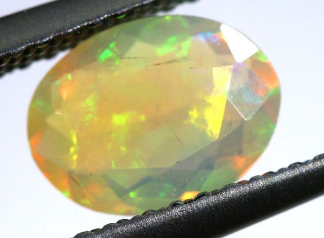 1 CTS ETHIOPIAN WELO FACETED STONE FOB-710-FIREOPALBEADS