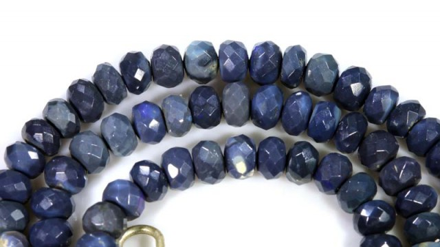 78.95 CTS BLACK OPAL BEADS STRAND TBO-4988