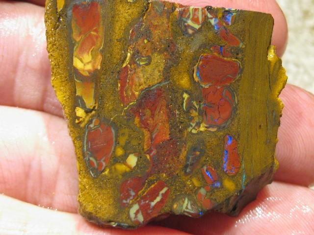 OpalWeb *131.0Cts - Yowah Boulder Matrix Opal 'RUBS'