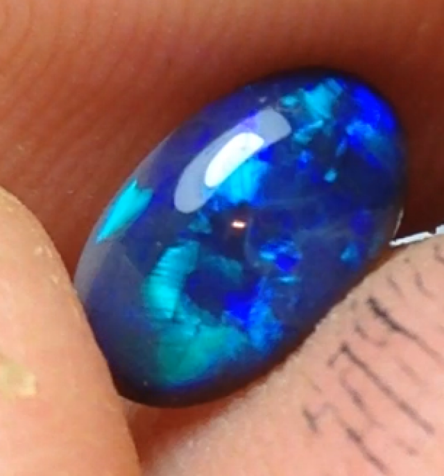 0.91ct Lightning Ridge Gem Black Opal