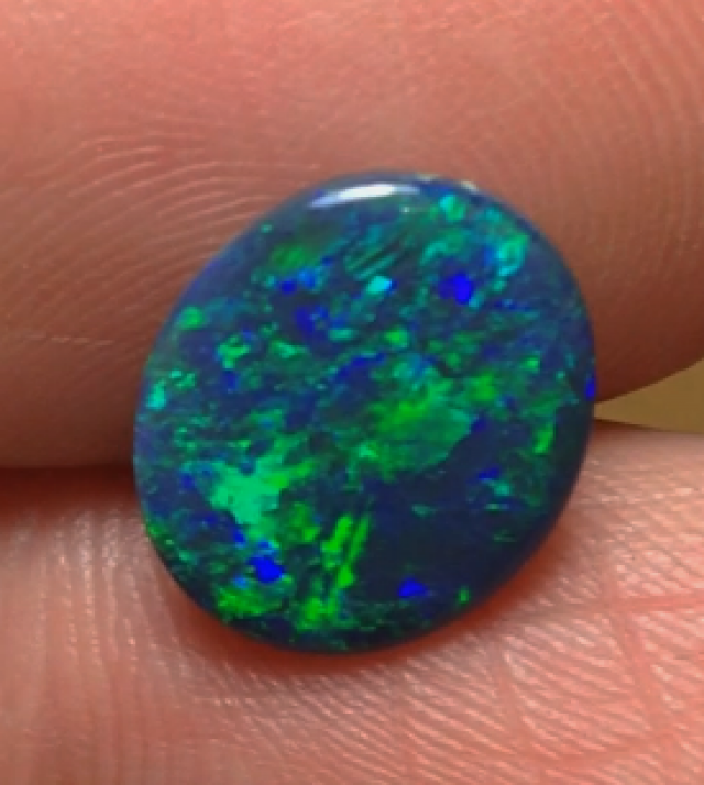 2.06ct Lightning Ridge Gem Black Opal
