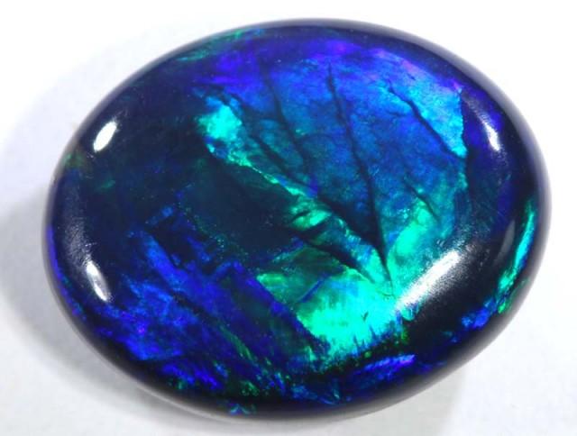 N1-  4.15 cts BLACK Lightning Ridge Opal Cut Stone C-365