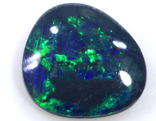 N2- 1.70 cts BLACK Lightning Ridge Opal Cut Stone C-380