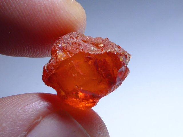 8.6CArats Nice Brilliant AAA/TOP Clean Rough Mexican Fire Opal Crystal