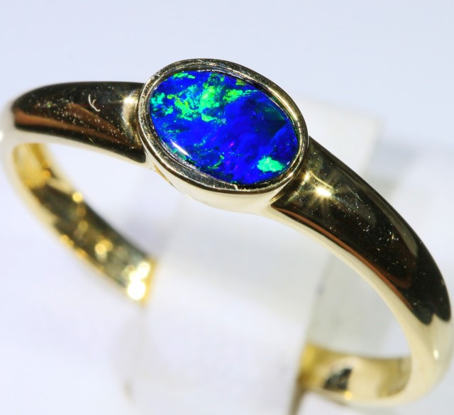 Gem Opal Doublet Ring in 14K Gold SB 260
