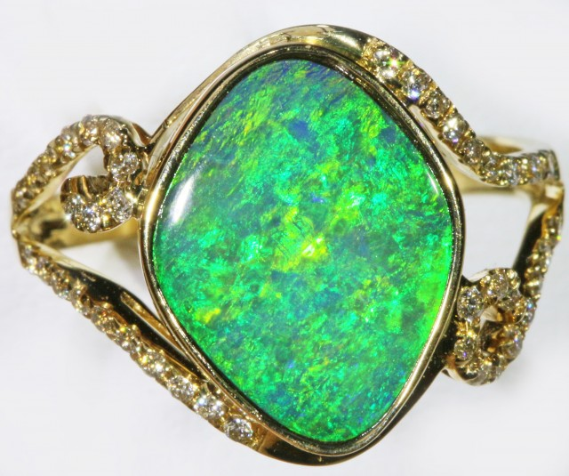 Gem Opal Doublet Ring in 14K Gold SB 266