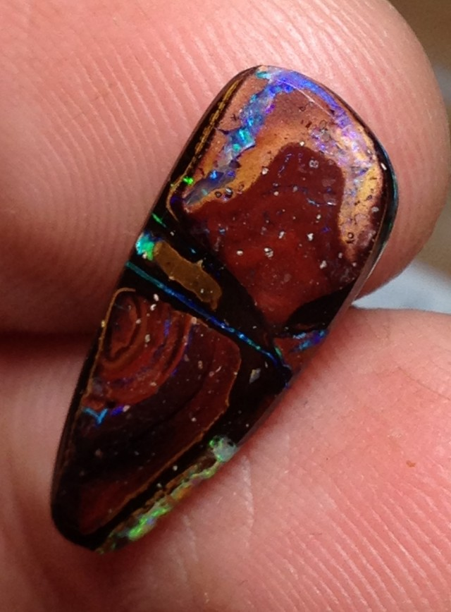 BARGAIN BUY IT NOW Boulder Opal Picture Stone AB982 4cts