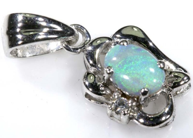 925 STERLING SILVER SOLID OPAL PENDANT 4CTS OF-1551