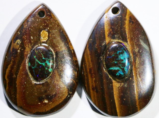 13.88 CTS BOULDER OPAL PAIR DRILLED [SO7241]