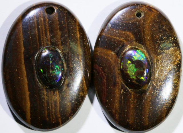 15.71 CTS BOULDER OPAL PAIR DRILLED [SO7242]