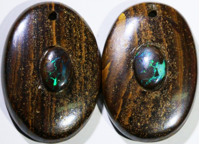 15.13 CTS BOULDER OPAL PAIR DRILLED [SO7244]