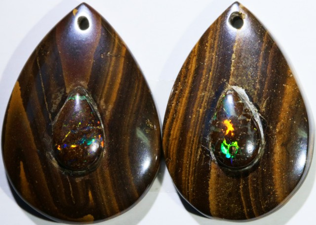 19.37 CTS BOULDER OPAL PAIR DRILLED [SO7245]