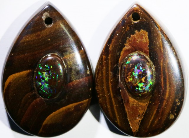 15.27 CTS BOULDER OPAL PAIR DRILLED [SO7246]