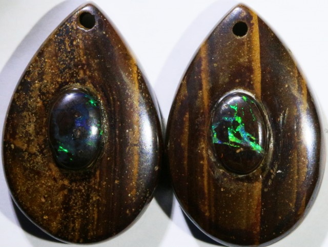13.11 CTS BOULDER OPAL PAIR DRILLED [SO7247]