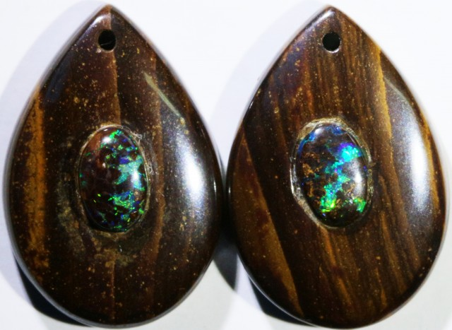 15.71 CTS BOULDER OPAL PAIR DRILLED [SO7248]