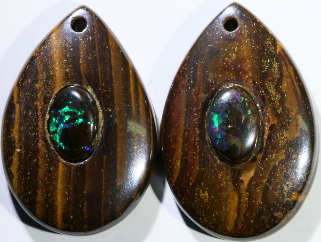 14.26 CTS BOULDER OPAL PAIR DRILLED [SO7256]