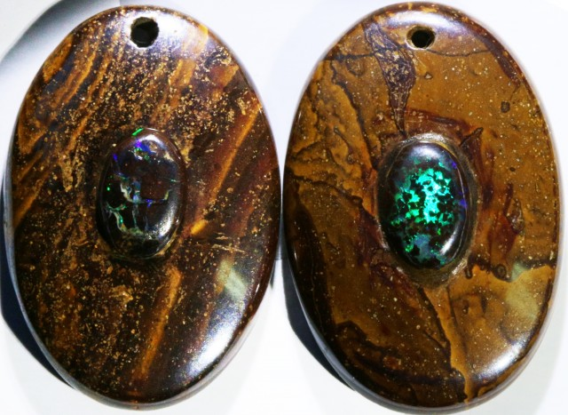 14.89 CTS BOULDER OPAL PAIR DRILLED [SO7257]