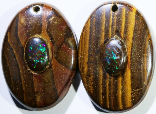 14.51 CTS BOULDER OPAL PAIR DRILLED [SO7258]