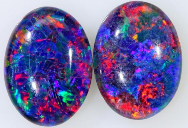 1.95 Cts  AAA Pair Gem Australian Triplet Opals BU2393