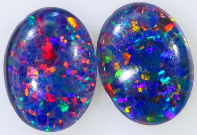 1.95 Cts  AAA Pair Gem Australian Triplet Opals BU2403
