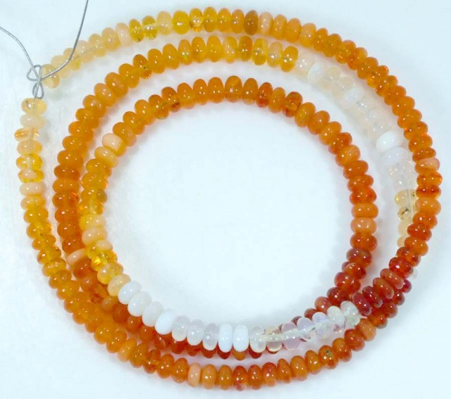 33 CTS MEXICAN FIRE OPAL STRANDS FOB-761