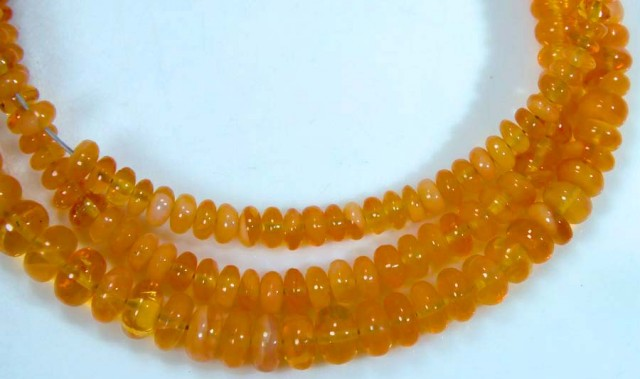 37.90 CTS MEXICAN FIRE OPAL STRANDS FOB-765