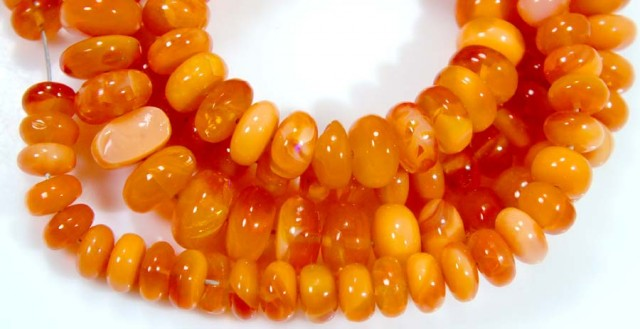 85 CTS MEXICAN FIRE OPAL STRANDS FOB-766
