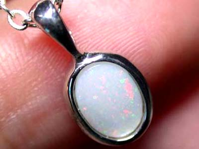 Solid Fire Opal in silver Pendant NA 255