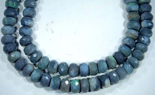101.95 CTS QUALITY BLACK OPAL BEADS DRILLED FACETED TBO-5007