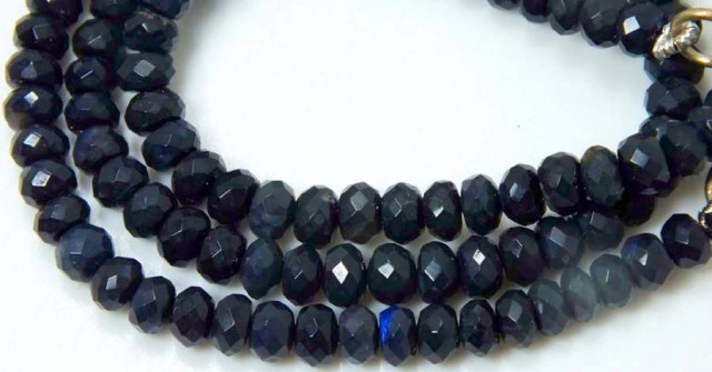62.45 CTS RARE JET BLACK OPAL BEADS DRILLED  TBO-5008