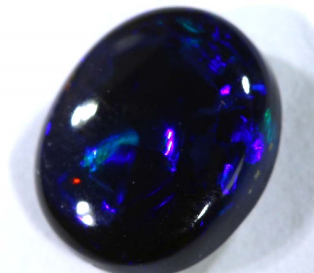 N1 - 1.20 cts BLACK Lightning Ridge Opal Cut Stone C-382