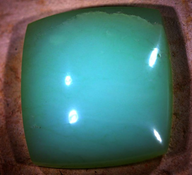 24 CTS GREEN OPAL POLISHED CABS LO-3944