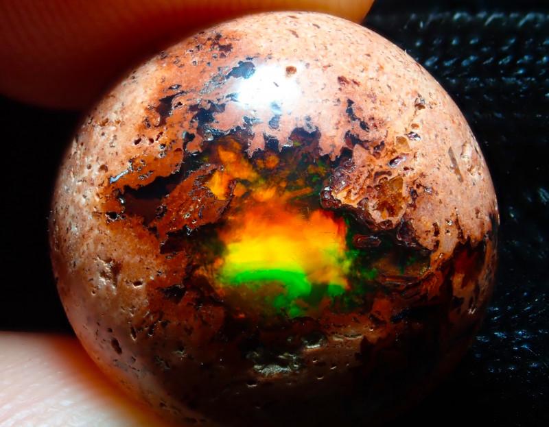$1 NR Auction 15.26ct Mexican Matrix Cantera Multicoloured Fire Opal